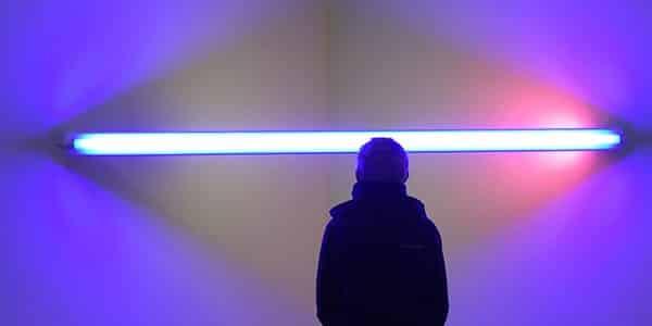 Blue lights combat drug use