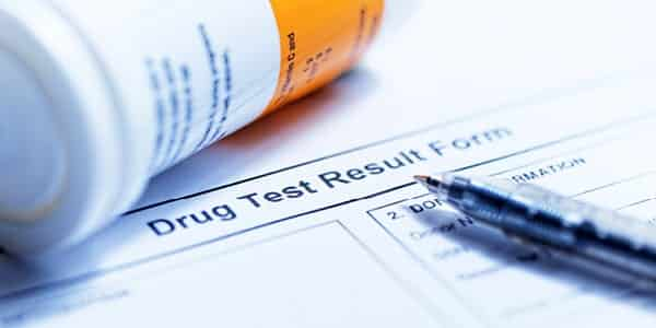 What does a non-negative drug result mean?