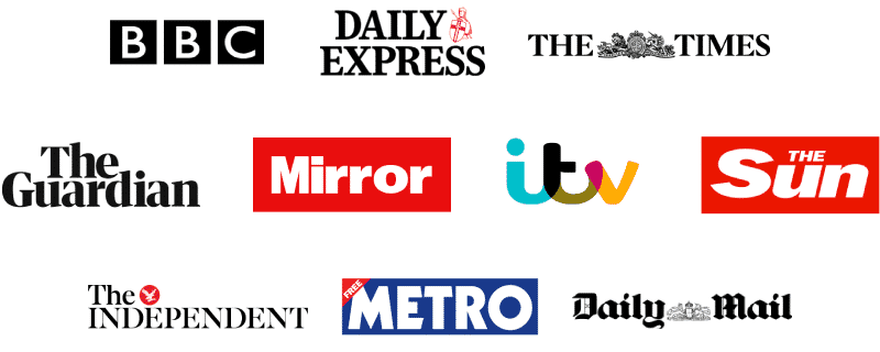 The BBC, the Daily Express, The Times, The Guardian, the Mirror, ITV, The Sun, The Independent, the Metro and the Daily Mail