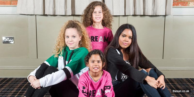 UK family has two sets of twins with one black and one white child