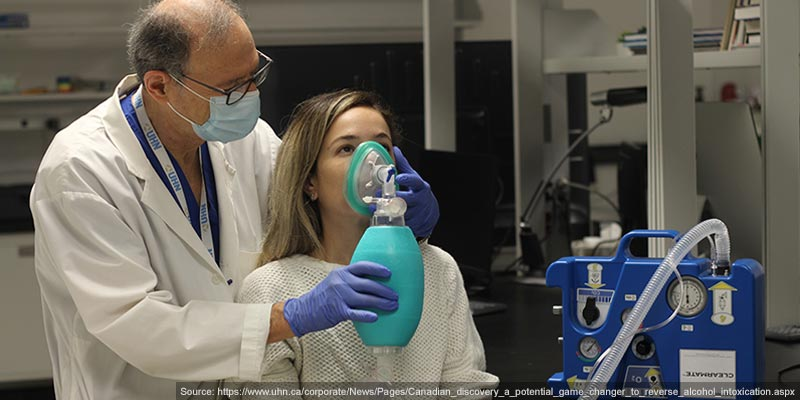 Breathing device that helps drinkers sober up 3 times faster than without intervention