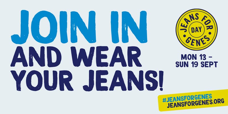 We are supporting Jeans for Genes 2021